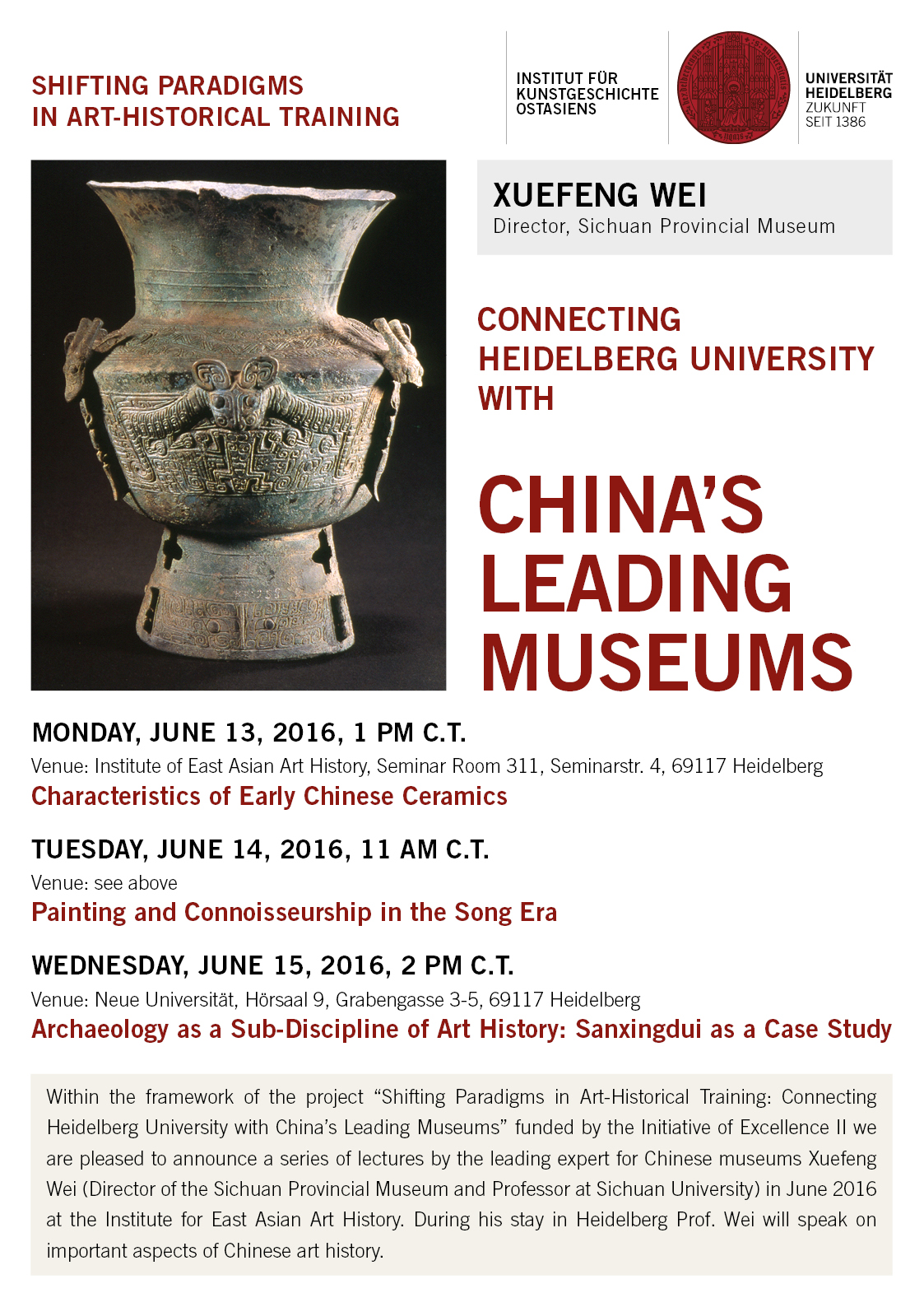 13. – 15. Juni 2016 | Connecting China's Leading Museums