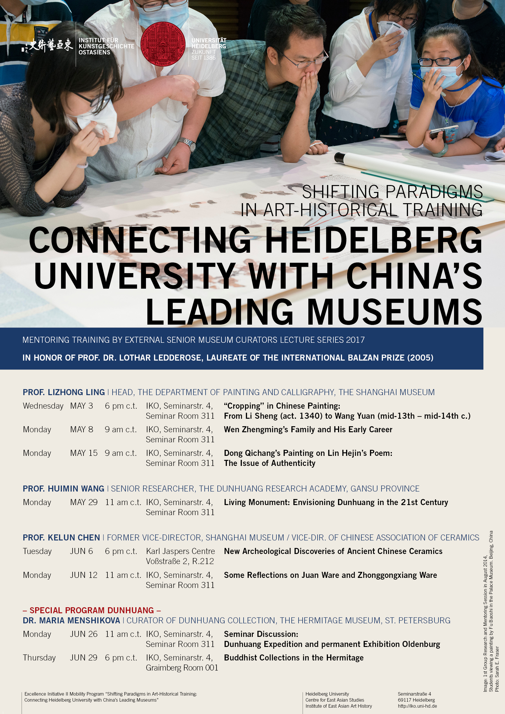 3. Mai – 29. Juni 2017 | Connecting Heidelberg University with China's Leading Museums
