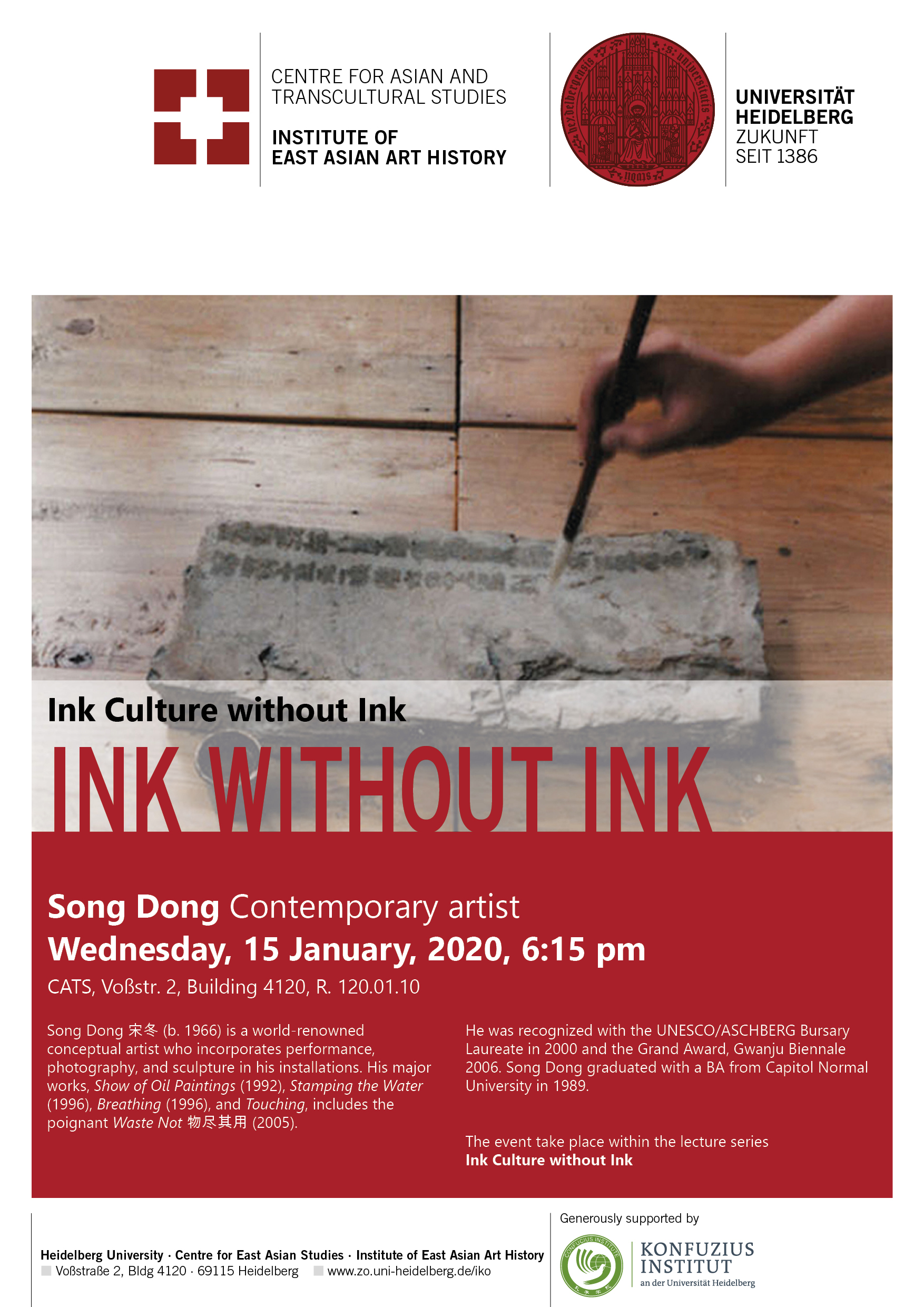 15. Januar 2020 | SONG Dong: Ink Without Ink